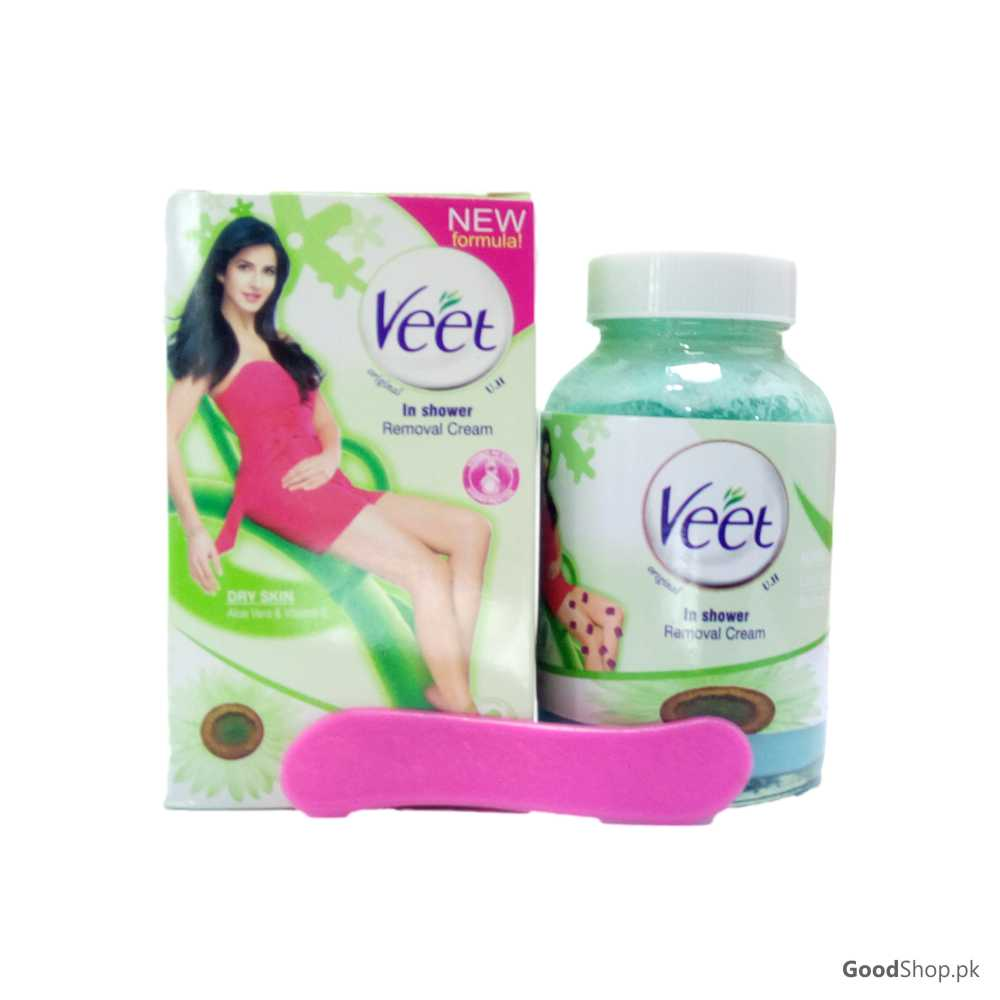 Veet In Shower Hair Removal Cream For Dry Skin With Aloe Vera
