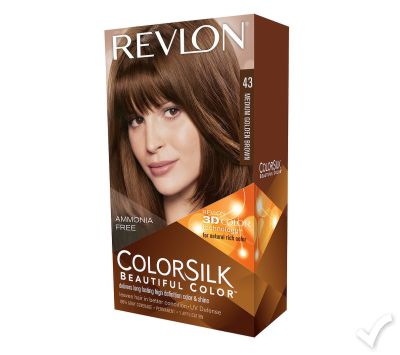 Revlon Color Silk - Medium Golden Brown Hair Color # 43