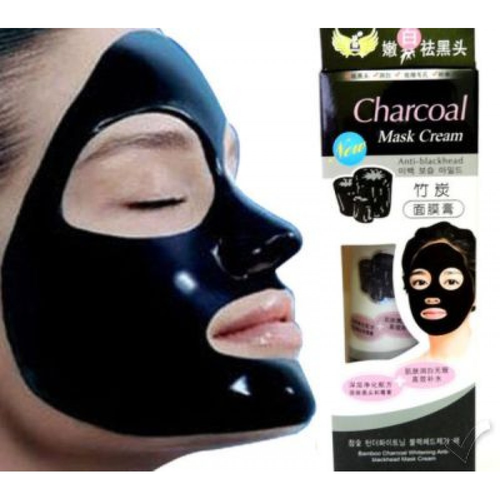 Quick Skin Revamp Diy Charcoal Mask: Bamboo Charcoal Whitening Anti-Blackhead Black Mask Cream