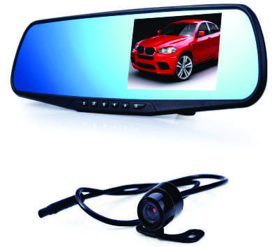 Car Dvr Mirror Dual Camera Front & Back 1080P