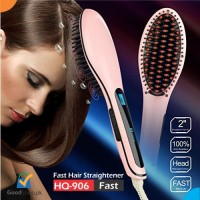 Fast Hair Straightener Electrical Brush Hqt-906