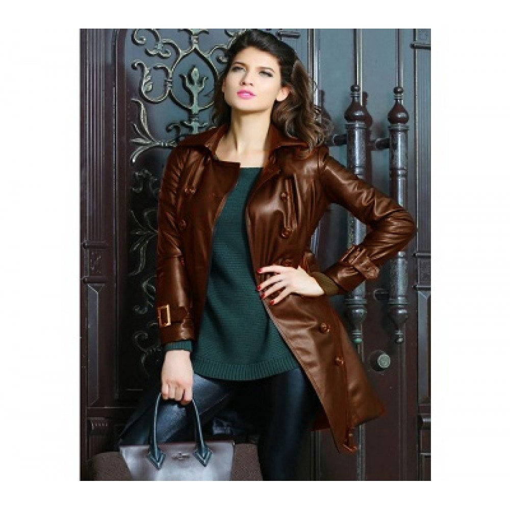a896ff06c716 High Street Faux Leather Long Coat leather coats for women