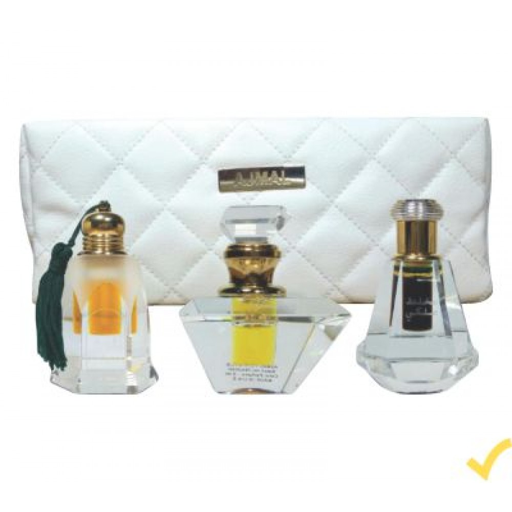 Ajmal Exclusive 4 In 1 Attar & Pouch Gift Set