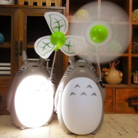 Totoro Rechargeable Small Night Lamp With Fan